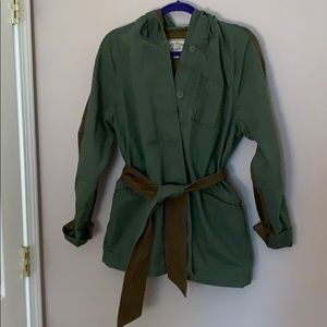 Lucky brand two toned green utility jacket